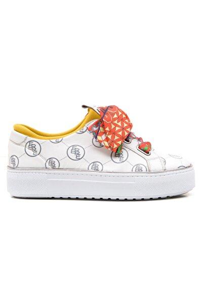 Ferre Kadın Beyaz Hakiki Deri Günlük Ayakkabı