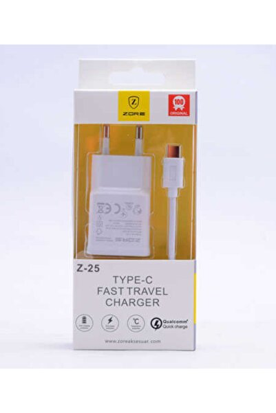 zore Z-25 Type-c-micro Beyaz Fast Travel Set Charger