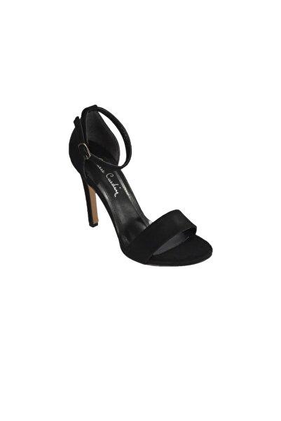 Pierre Cardin Kadın Siyah Süet Topuklu Ayakkabı