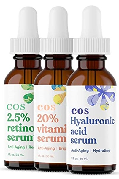 COS Retinol & Hyaluronic Acd & Vitamin C Serum Set