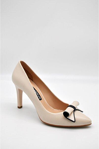 Venüs Kadın Bej Stiletto Topuklu Ayakkabı
