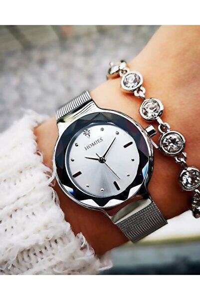 Homies Kadın Gümüş Renk Çelik Saat