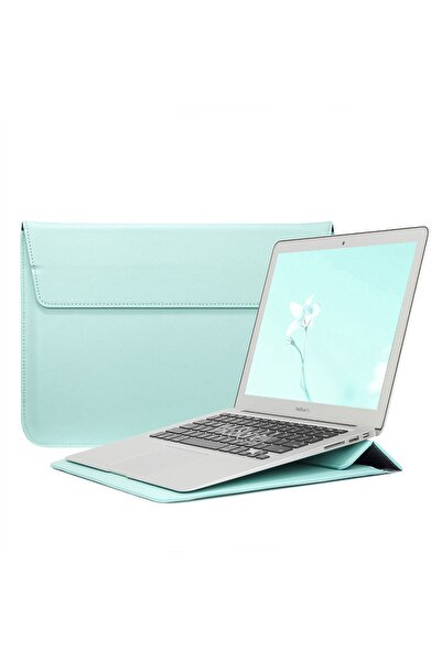 Mcstorey Apple MacBook Air Retina 13.3 13  Vegan Deri Çanta Kılıf Sleevebag  Stand Pu1