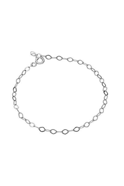 Glorria Kadın Gümüş 15 cm Beyaz Uzatma Zincir