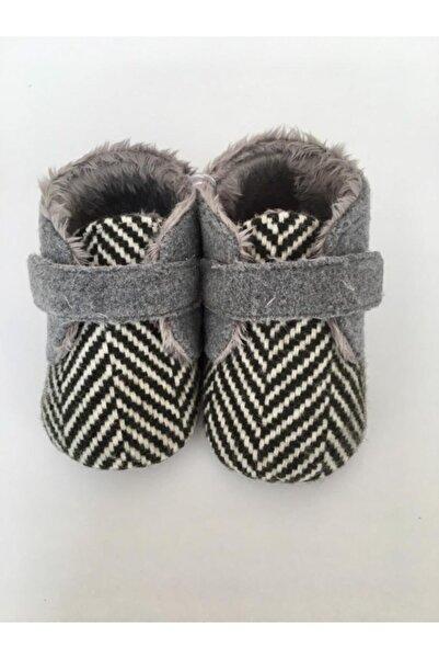 Funny Baby Unisex Bebek Haki Kürklü Ayakkabı