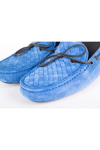Bottega Veneta Erkek Mavi Loafer Ayakkabı