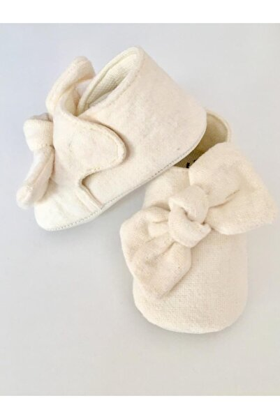 Funny Baby Kız Bebek Krem Fiyonklu Ayakkabı