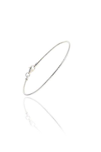 Söğütlü Silver Gümüş Rodyumlu İtalyan Modeli Bilezik
