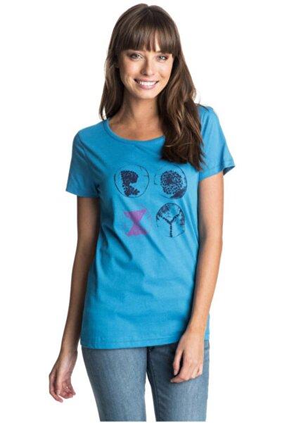 Roxy Kadın Mavi Kısa Kollu Tshirt