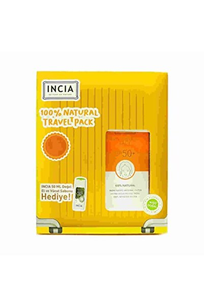 Incia Sunscreen Cream Face Spf50+ 50ml Set