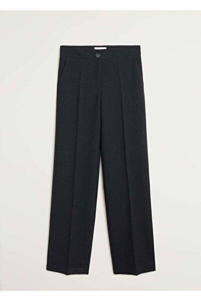 MANGO Woman Kadın Siyah Pantolon