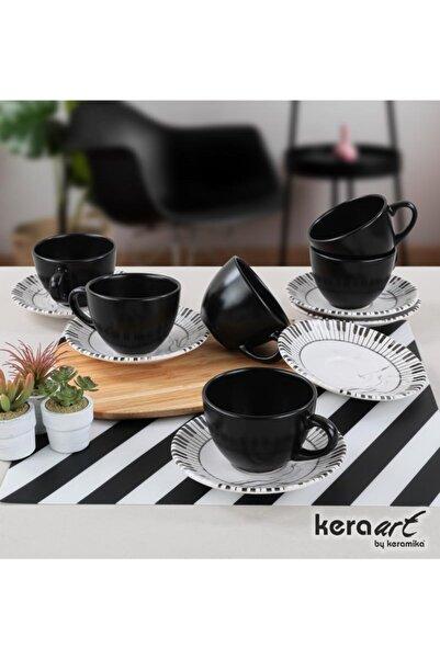 Keramika 6 Kişilik 12 Parça Mat Çay Takımı