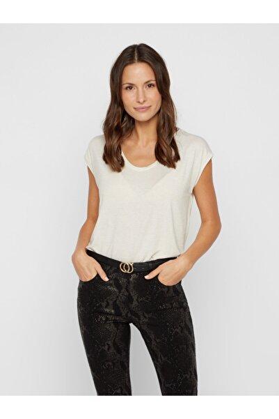 PIECES Kadın Beyaz Çizgili T-Shirt 17078572 PCBILLO 17078572