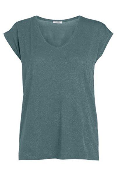 PIECES Kadın Mavi Çizgili T-Shirt 17078572 PCBILLO