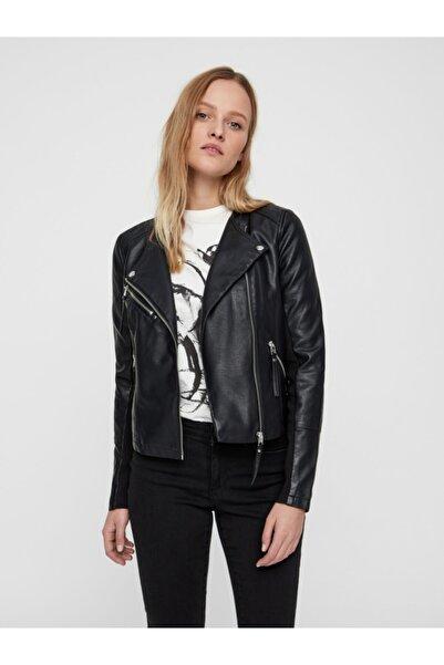 Vero Moda Kadın Siyah Siyah Deri Ceket 10211420 VMRIAFAVO