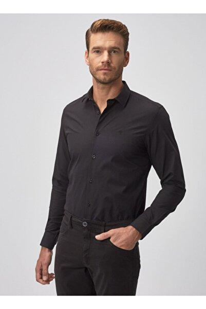 ALTINYILDIZ CLASSICS Erkek Siyah Tailored Slim Fit Klasik Gömlek