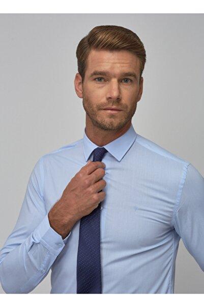 ALTINYILDIZ CLASSICS Erkek Açık Mavi Tailored Slim Fit Klasik Gömlek