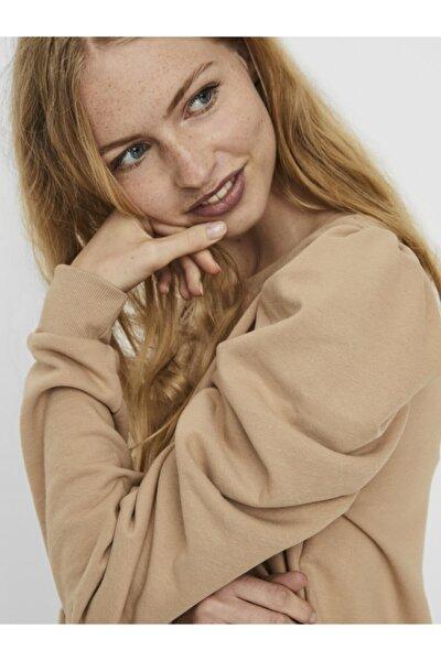 Vero Moda Kadın Bej Puf Kollu Sweatshirt 10241014 VMZOE