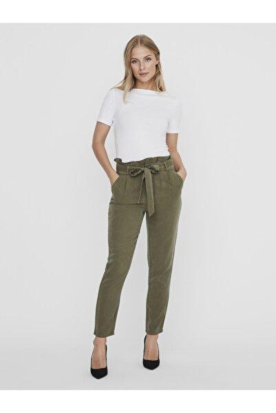 Vero Moda Kadın Beyaz Geniş Yakalı Kısa Kollu Tencel T-Shirt 10231755 VMPANDA