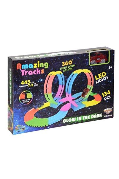 BİRLİK TOYS 8804 Led Işıklı Yarış Pisti Taklalı 2x360