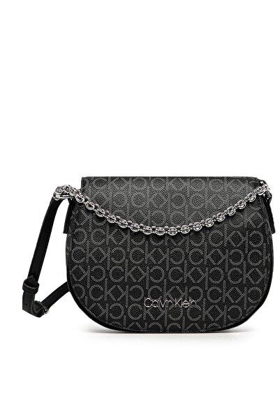 Calvin Klein Kadın Siyah Logo Baskılı Ayarlanabilir Askılı Çanta K60k607133 0gx