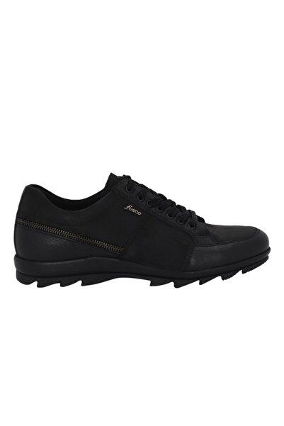 Fosco Erkek Siyah Nubuk Deri Günlük Ayakkabı 7517