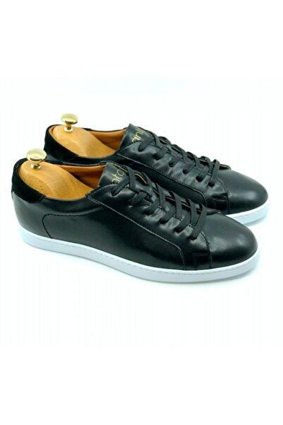 TETRİ Erkek Siyah Hakiki Deri Sneakers