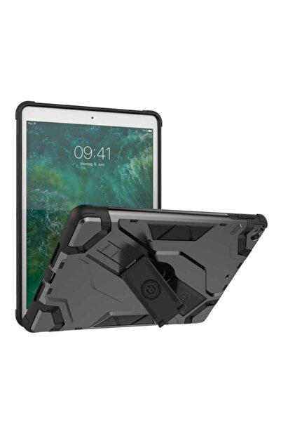 MOBAX Apple Ipad Mini 2 Kılıf Zırh Tank Tablet Silikon Case Gri A1489 A1490 A1491