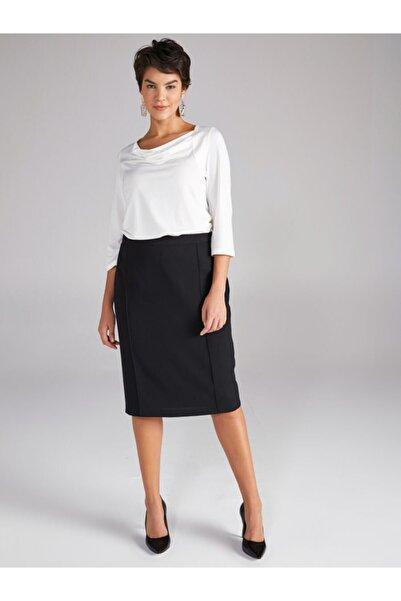 Faik Sönmez Kadın Siyah Slim Fit Etek 00035