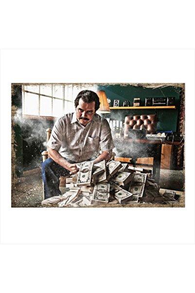 Tablomega Ahşap Tablo Pablo Escobar - Narcos 25cm X 35cm