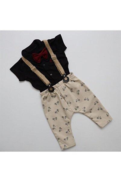 Hippıl Baby Necixs Baby Ultra Lüx Askılı Bebek Papyonlu Tulum 5427