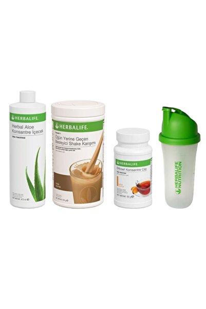 Herbalife Başlangıç Seti-11 1 Fındıklı Shake Şeftali 50gr Çay + Aloe Konsantre Içecek+ Shaker