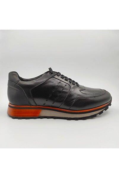 MARCOMEN Erkek Siyah Deri Casual Ayakkabı