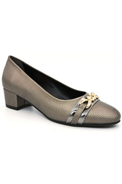 PUNTO Kadın Altın Topuklu Ayakkabı