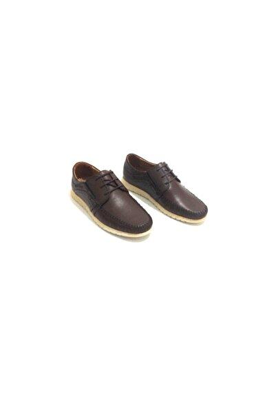 Erdem Erkek  Siyah Hakiki Deri Casual Ayakkabı