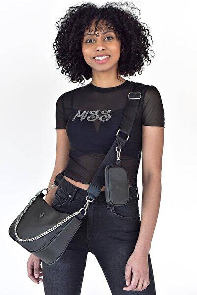 Addax Kadın Siyah Askılı Çanta Ç3203 - A10 ADX-0000021618
