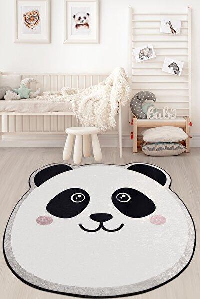 Chilai Home Panda Djt Çap Çocuk ve Bebek Halısı Yıkanabilir ,Kaymaz Taban Leke Tutmaz