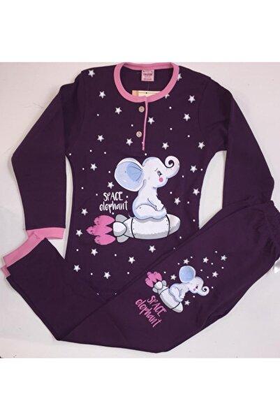 Tarık Kız Çocuk Mor Pijama Takımı