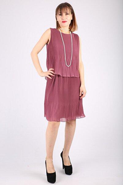 Günay Kadın Abiye Elbise Dns653 Kısa Şifon