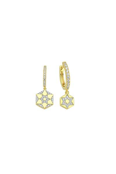Luzdemia Gold Chiron Star Earring 925 Ayar