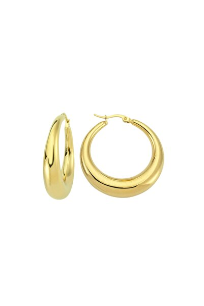 Luzdemia Half Moon Hoop Earring - Gold