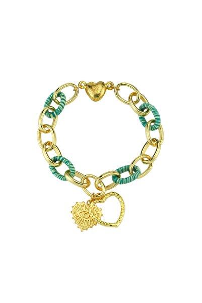 Luzdemia Green Link Locker Bracelet