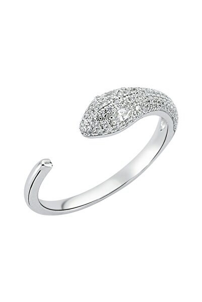 Luzdemia Snake Ring 925 - White