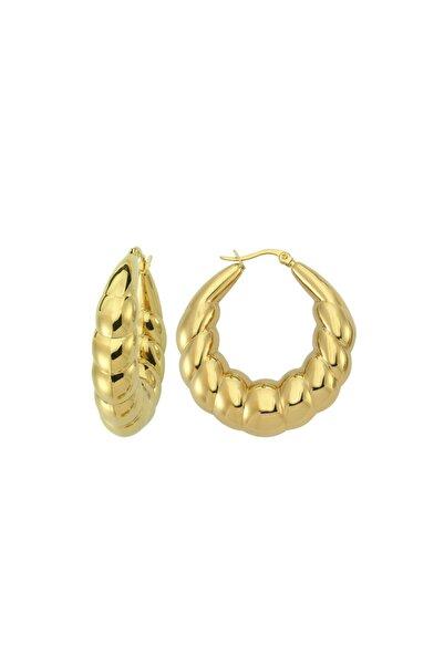 Luzdemia Sliced Hoop Earring - Gold