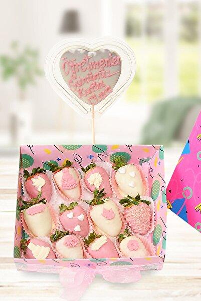 TATLIMEYVE White Chocolate Box Çikolatalı Kekler Kişiye Özel Mesajlı Tatlı Hediye Kutusu