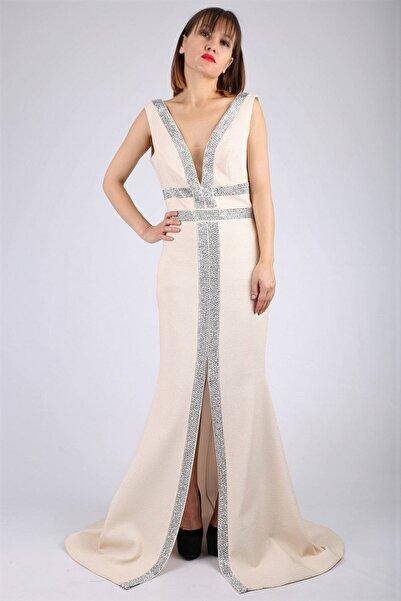 Günay Kadın Pembe Abiye Elbise