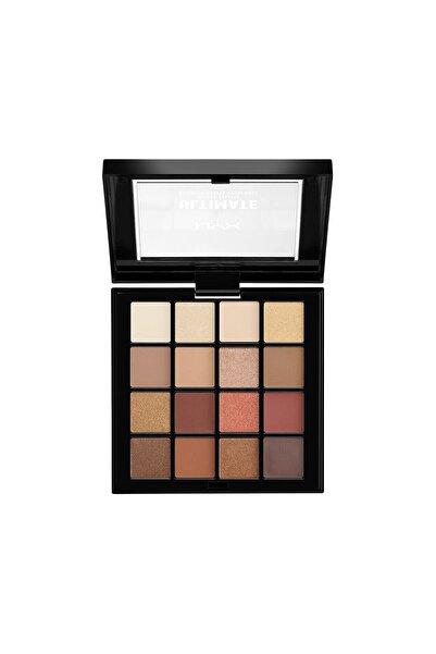 NYX Ultimate Shadow Pallette Warm Neutrals 800897017644 Göz Farı Paleti