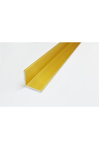 Şahin Alüminyum Köşe Profili Alüminyum Köşebent L Profil Sarı Renk ( 1,5 Cm X 1,5 Cm X 50 Cm)