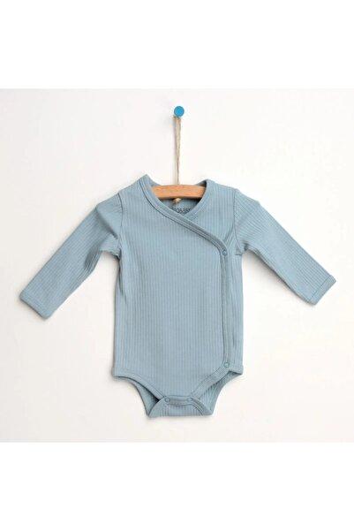 HelloBaby Erkek Bebek Açık Mavi Zıbın Body