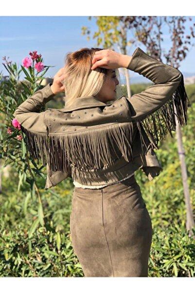 Sateen Kadın Püsküllü Kısa Ceket